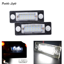 цена на 2x 18MD CAN-bus LED Number License Plate Light For SKODA SUPERB VW Touran Passat Caddy MK3 Golf Plus Jetta
