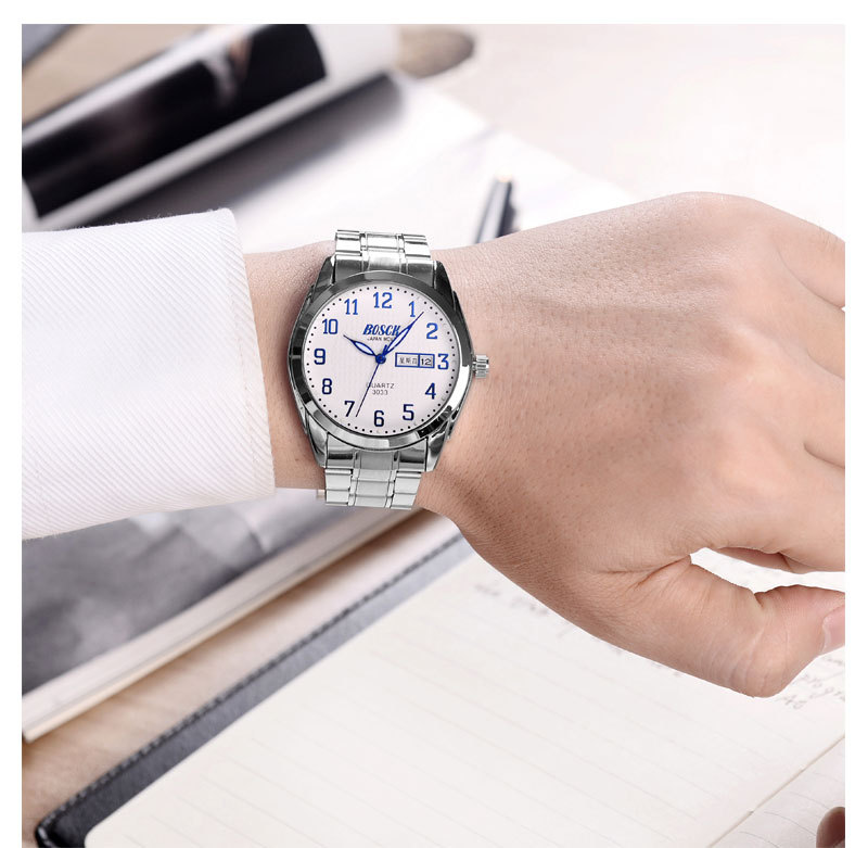 BOSCK reloj de pulsera 2018 reloj de cuarzo hombres relojes Top marca de lujo famoso reloj Masculino reloj Relogio Masculino
