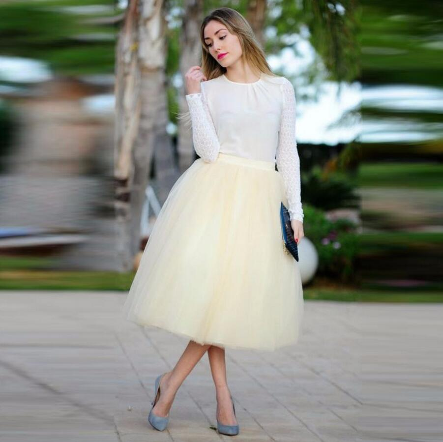 Tutu Card mollet Mode Made Empire Custom Picture Casual Nouvelle Card Femmes Color choose Color Mi choose Tulle Jupe Arrivée Taille Ivoire Jupes vgwzx0E1q