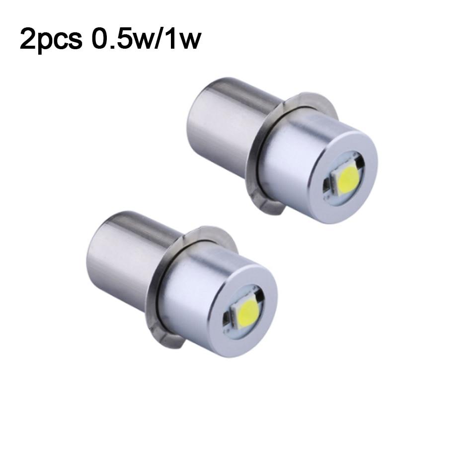 2 pièces P13.5S 0.5w1w3w Base ampoules de remplacement LED Kit de Conversion pour C/D lampes de poche torche haute puissance LED ampoule de mise à niveau pour Maglite