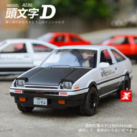 Classic Hot scale 1:28 Initial D diecast car toyota AE86 turno metal model with light sound collection wheel pull back toys