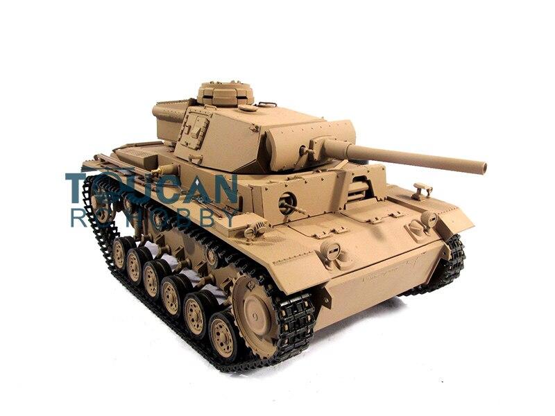 100% Metal Mato 1/16 Panzer III RTR RC Tank Infrared Barrel Recoil Yellow 1223