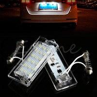 2x Error Free License Plate Lights 18 LED White For BMW E53 X5 1999 2003 X3