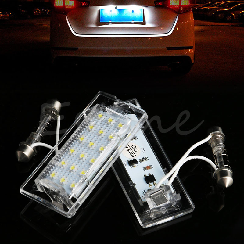 2x Error Free License Plate lights 18 LED White For BMW E53 X5 1999-2003 X3