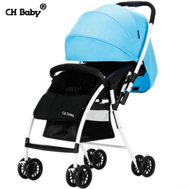 CH baby ultra light 4.7kg baby stroller protable fold in plan box baby travel pram easy life
