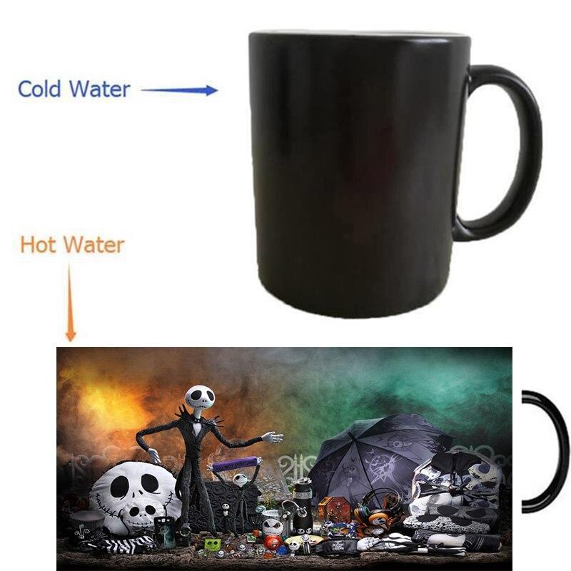 The Nightmare Before Christmas mugs heat reveal coffee mugs cold hot sensitive whisky art porcelain tea