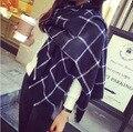 Размер 200*85 см, кашемировые Шали Большой Мягкий и Тяжелый Шарф Wrap & Черный и белый плед для женщин Skyour