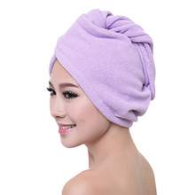 Women Hair Quickly Dry Hat Cap Towel Microfiber Bath Shower Cap Strong Water Absorb Drying Towel Drop shipping 1 pc hair drying cap lovely solid color quickly dry hair hat
