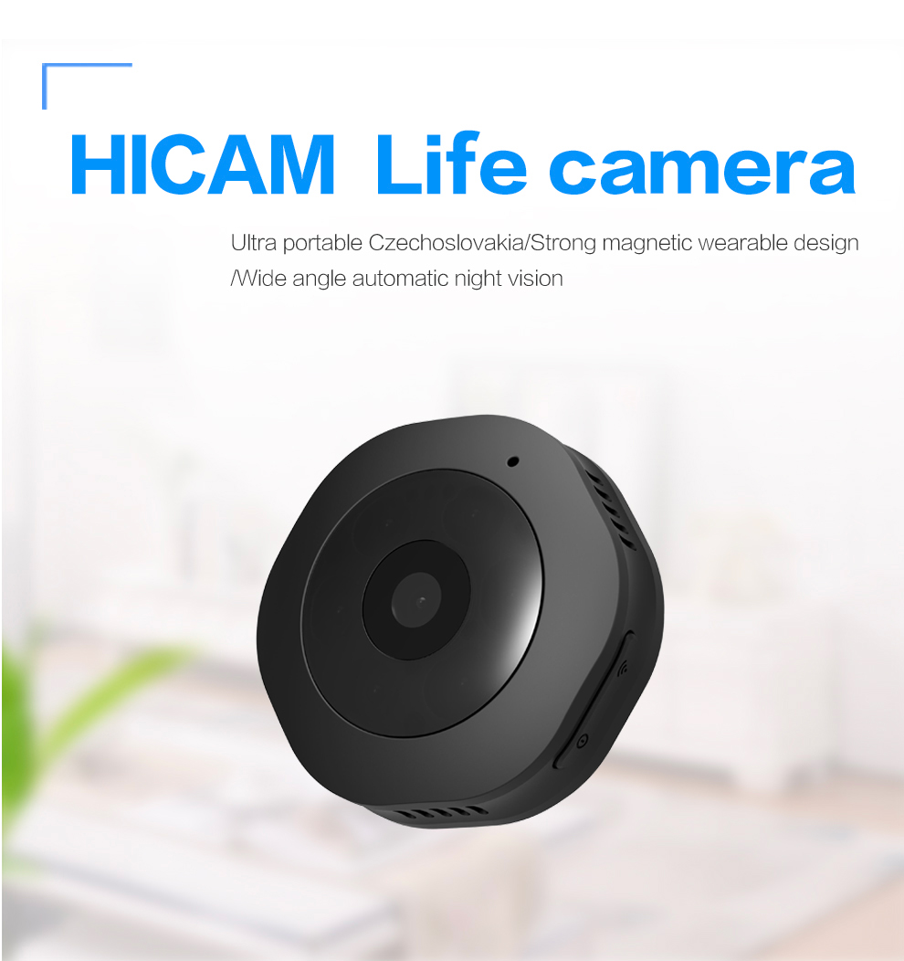 Wifi Body Camera IP Cam withe App for iPhone Android Wide Angle Tiny Secret Camcorder Webcam