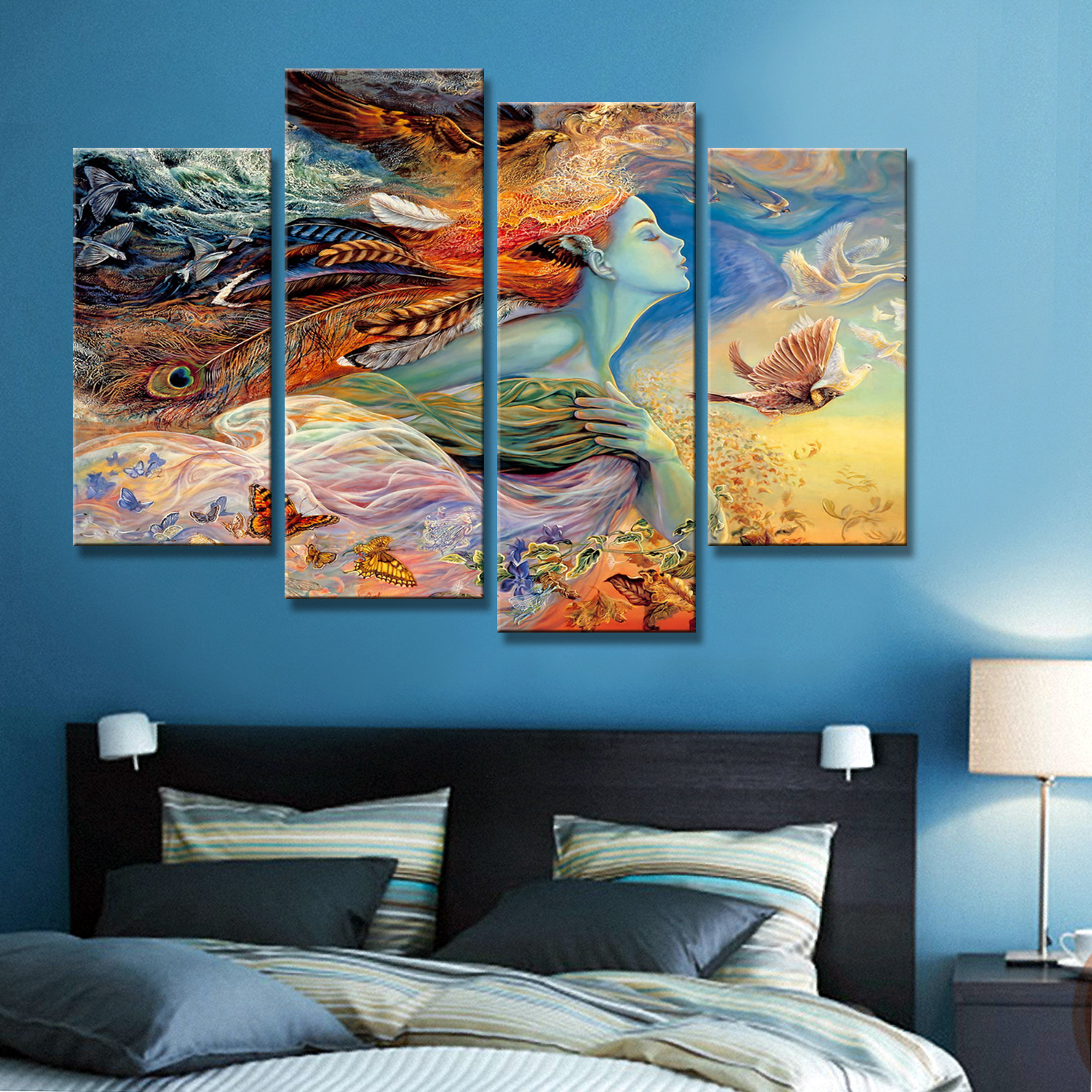 Drop Shipping Printed Wall Art Abstract Picture Canvas