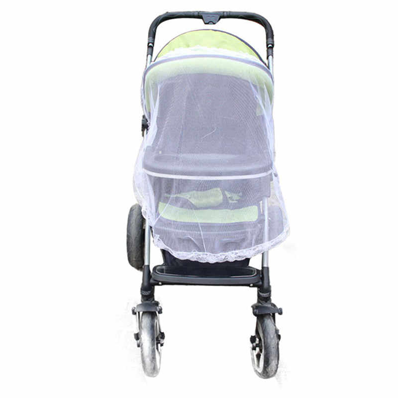 Brand new and high quality Universal Lace Safe Baby Carriage Insect Mosquito Net Baby Stroller Cradle Bed Net wholesale  J10