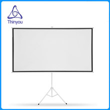 thinyou 72inch 169 matte white tripod portable projection screen hd floor foldable stand bracket for home or school traning - Projection Screens