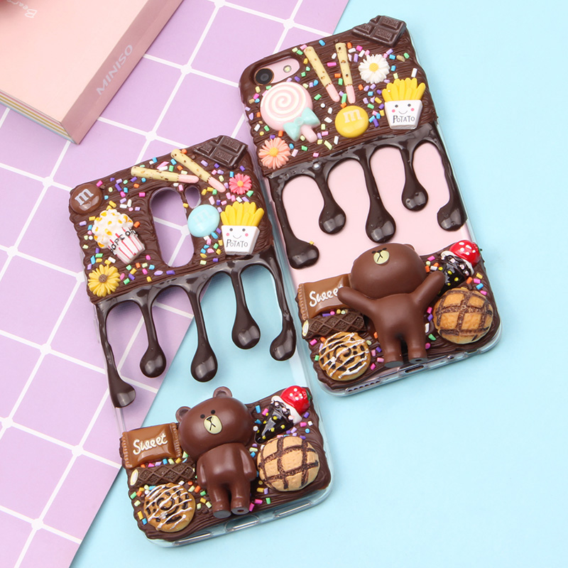 Simulated Cream Case For Samsung Galaxy S6 S7 Edge S8 S8 Plus S9 S9 Plus Note 8 9 Phone Cases Mobile Shipping Free