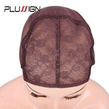 السائبة بيع 10 قطعة غطاء نسج رخيصة لصنع غطاء الدانتيل شعر مستعار ثلاثة لون أسود براون قبعات للشعر المستعار النسيج غطاء للشعر المستعار S/M/L/Xl