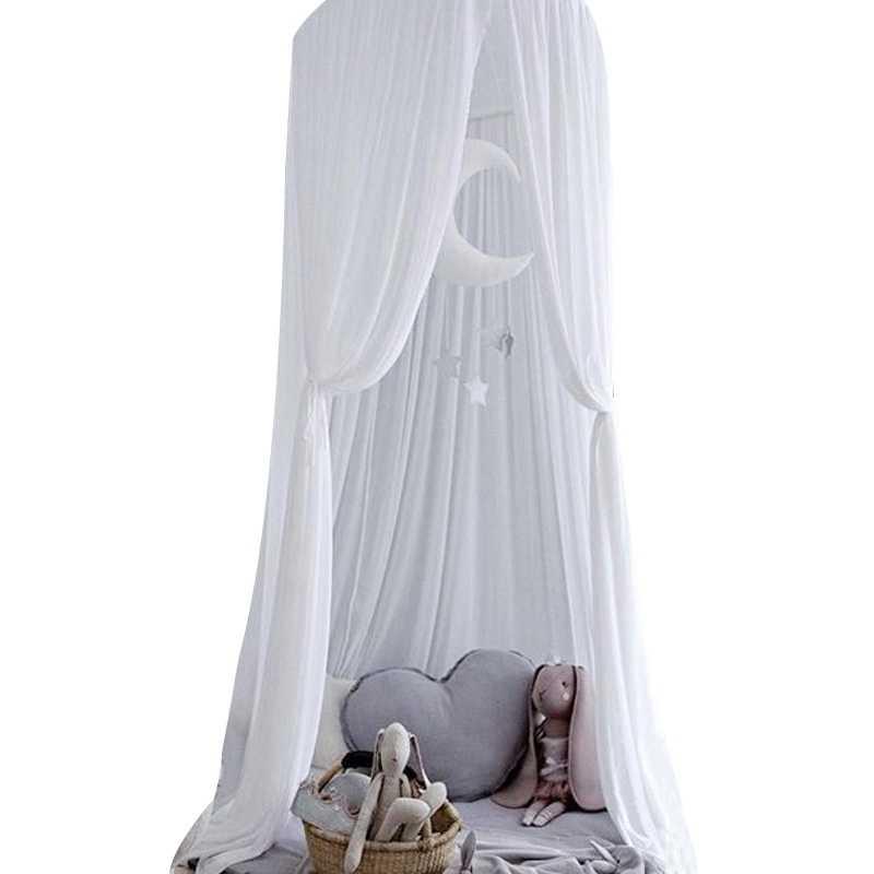 2019 Новая летняя детская противомоскитная сетка детская кроватка сетка для детской кровати Декор Детская кровать навес для девочек висячий купол подвесная москитная сетка