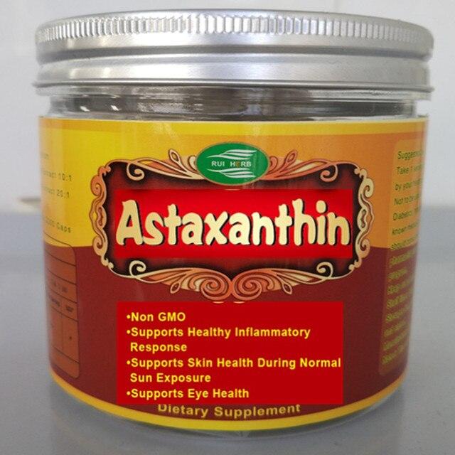 Астаксантин Мягких 120Gel x 8 мг на Порцию Поддерживает Кожу, глаз и Сердечно-Сосудистых Заболеваний