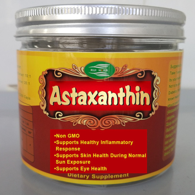 Astaxanthin Softgel 120Gel x 8mg per Serving Supports Skin, Eye and Cardiovascular Health