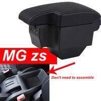 Para MG ZS caixa apoio de braço console central do carro universal caja modificação levantadas dupla com USB Sem montagem