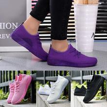 Женская дышащая обувь с закрытым носком; прогулочная тканая обувь ярких цветов для студентов; Прямая поставка 0815