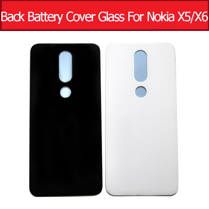 Back Battery <font><b>Glass</b></font> Cover For <font><b>Nokia</b></font> X5 5.1 Plus Rear Housing Door <font><b>Case</b></font> For <font><b>Nokia</b></font> x6 <font><b>6.1</b></font> Plus Replacement Parts Without Logo image