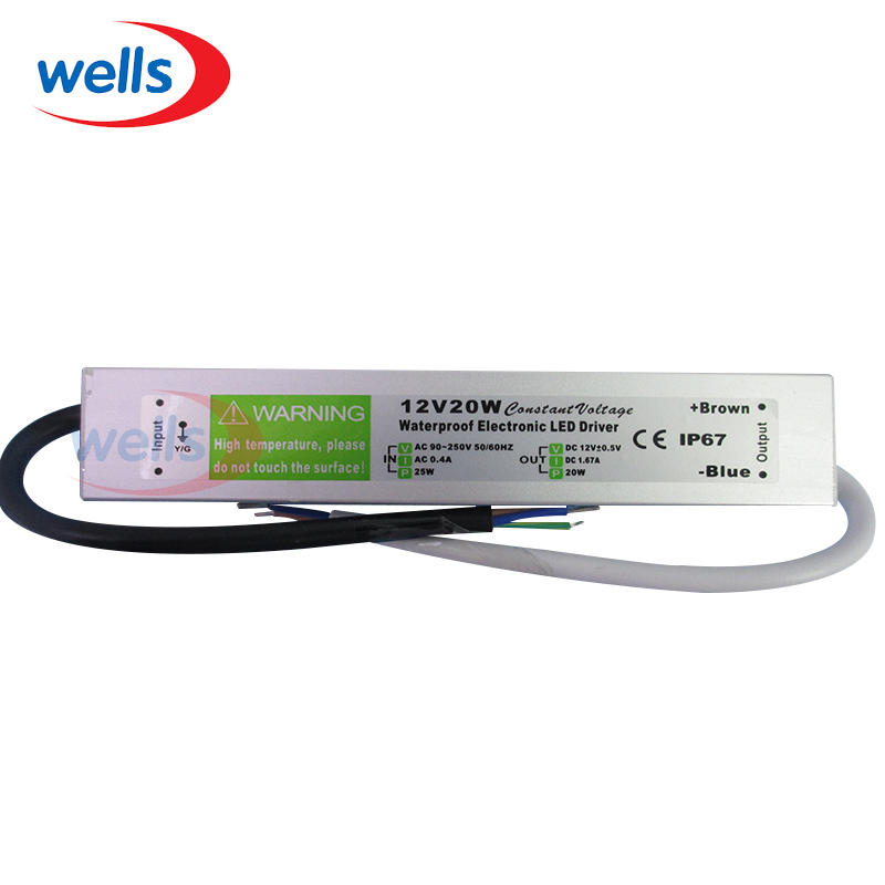 DC 12V 20W Waterproof Electronic LED Driver Transformer Power Supply