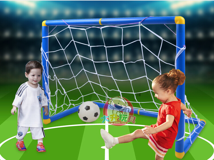 90CM Non-Toxic Plastic Football Gate Children Soccer Goal Net Baby Outdoor Sports Toy With Ball & Pump