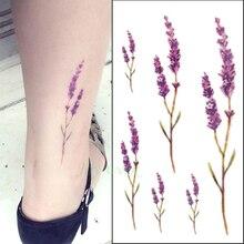 20 видов конструкций цветок водонепроницаемый временные татуировки наклейки в виде листка лотоса для девочек лаванды Tatto наклеек flash tatoo под...(China (Mainland))