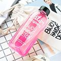 Outdoor Portable Plastic Transparent Water Bottles Space Cup Large Capacity Beverage Juice Cup with Cloth Bag 500ml 1000ml 2B