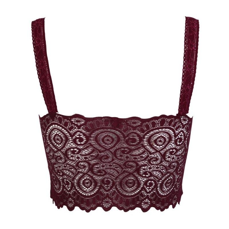 2c3cf661de ROPALIA 2018 New Sexy Women Lace Crochet Bralette Bra Bustier Crop Top  Floral Cami Padded Tank Tops-in Bras from Underwear   Sleepwears on  Aliexpress.com ...