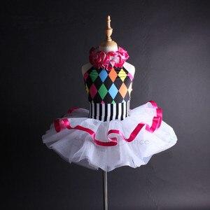 Image 1 - תמיכה ריקוד בנות נשים צבעוני הלטר בלט טוטו שמלת ילדים למבוגרים ריקוד תלבושות Vestidos C112