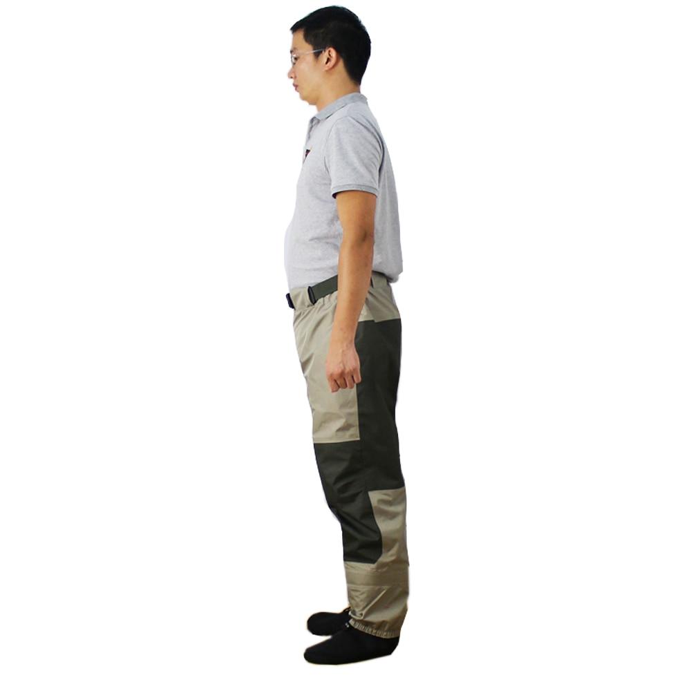 Pantalon de pêche à la mouche pantalon imperméable à l'eau Durable Wading pantalon de taille respirant avec pied de bas - 3