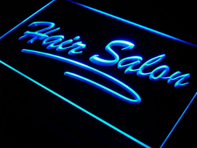 i561 Hair Salon Script Cut OPEN LED Neon Light Sign On/Off Switch 20+ Colors 5 Sizes