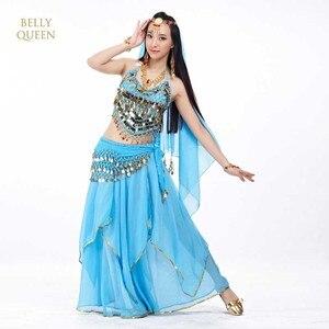 Image 1 - 5ชิ้น/เซ็ตท้องเต้นรำเครื่องแต่งกายชุดEgyptionอียิปต์ท้องเต้นรำเครื่องแต่งกายเครื่องแต่งกายบอลลีวูดของอินเดียแต่งตัวB Elly Dance