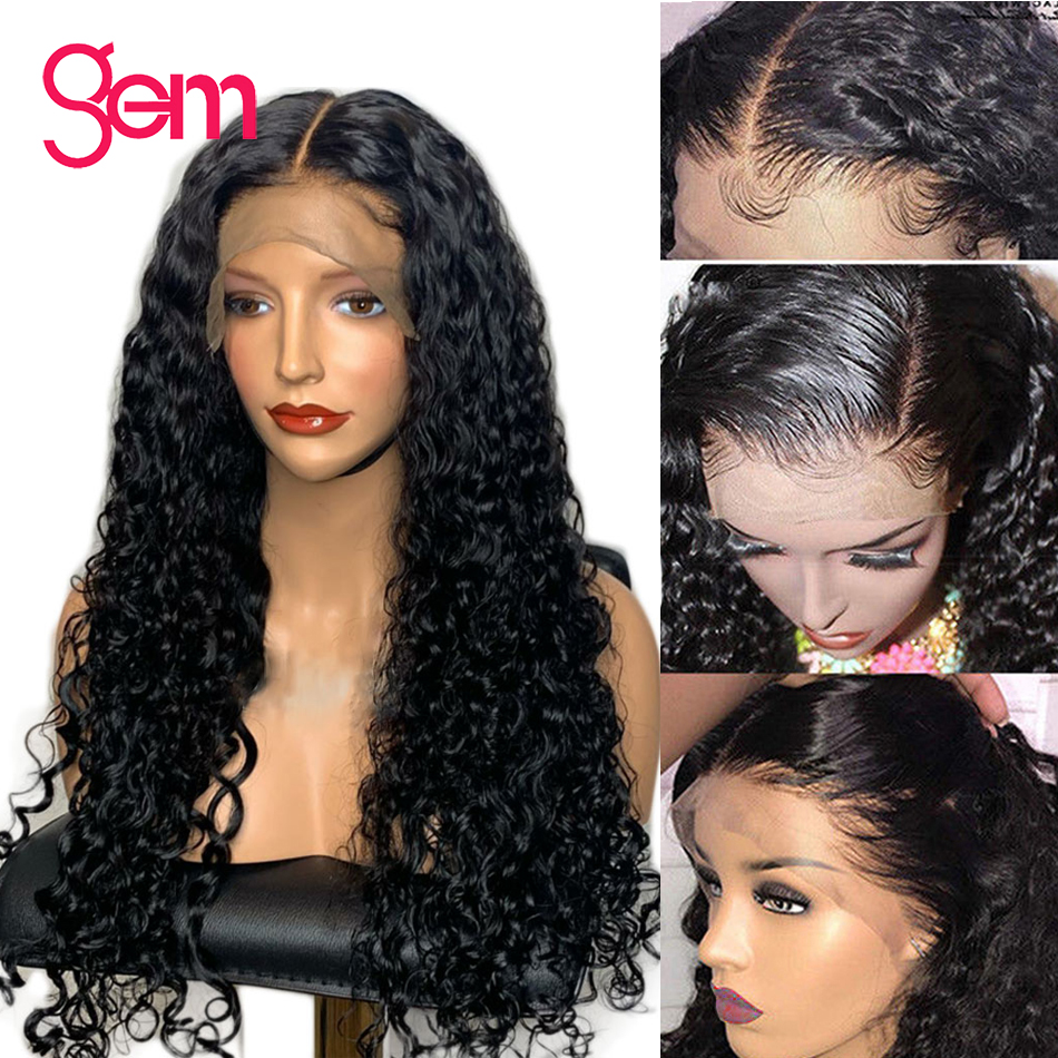 Water Wave Wig Lace Front Human Hair Wigs For Women Pre Plucked With Baby Hair Gem