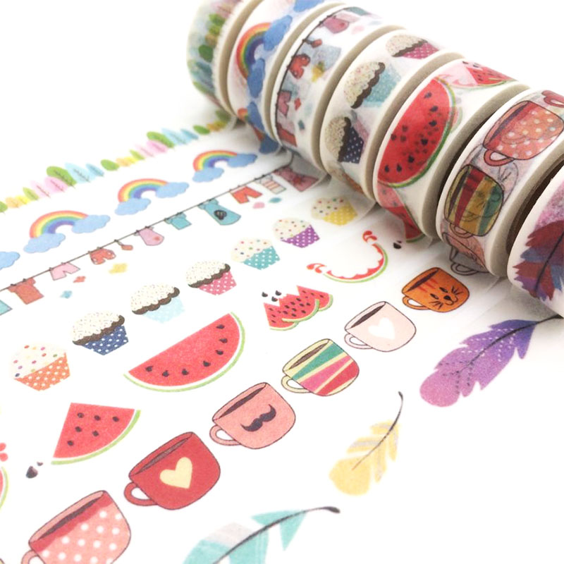 2017 Free shipping  24 patterns washee in tape rilakkuma jiataihe washi tape kawaii watercolor tape  1rolls/lot