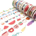 Our design 2000 style jiataihe washi tape scrapbooking kawaii decorated vintage gold masking tape diy 1rolls/lot Free shipping