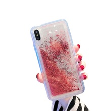 TPU Case For iPhone XR X XS Max 7 Plus Phone 8 6 6s Quicksand Liquid Glitter Cover