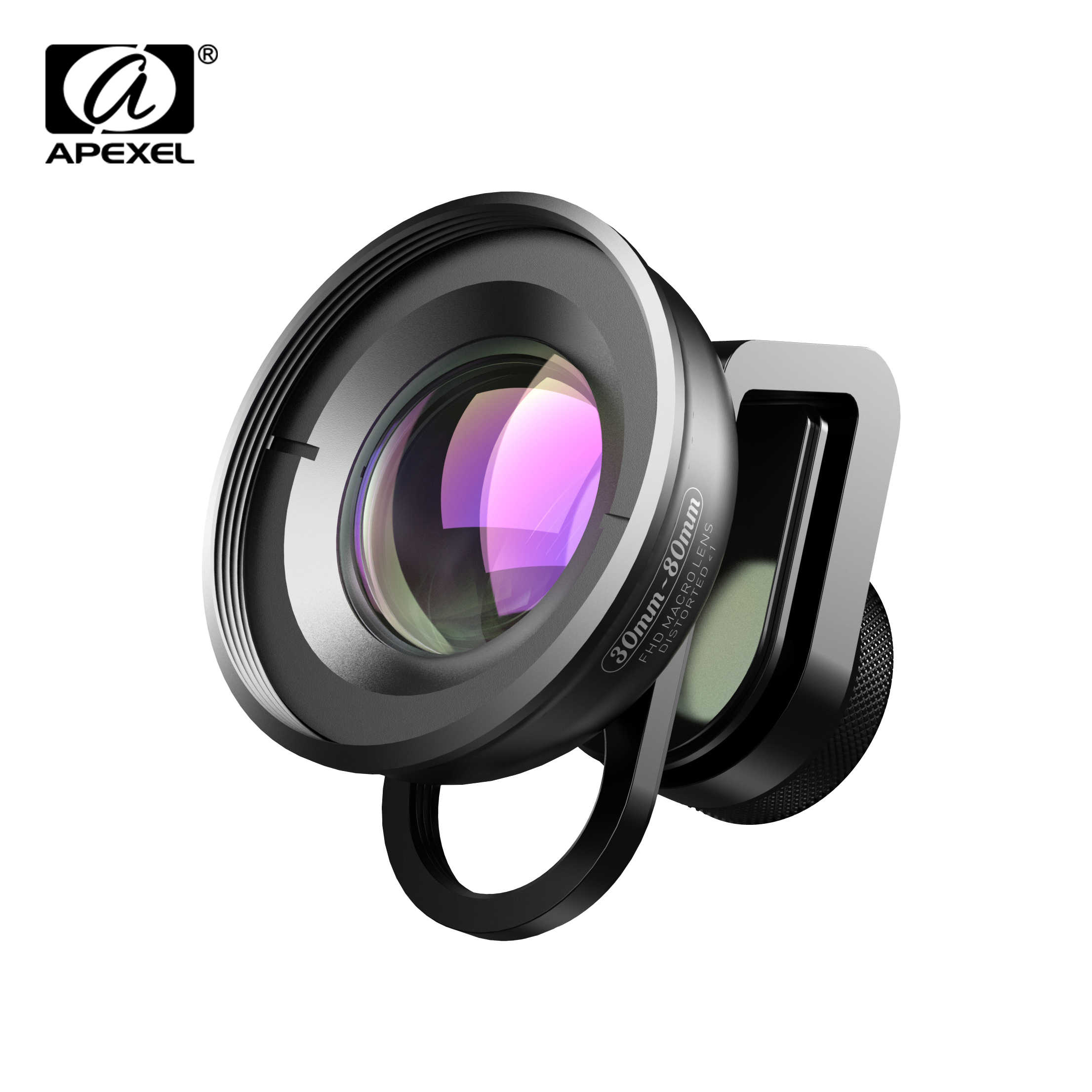 APEXEL HD Optic 30mm-80mm Macro Lens Phone Camera Lens 10x Super Macro Lentes for iPhonex xs max Samsung Xiaomi huawei Cellphone