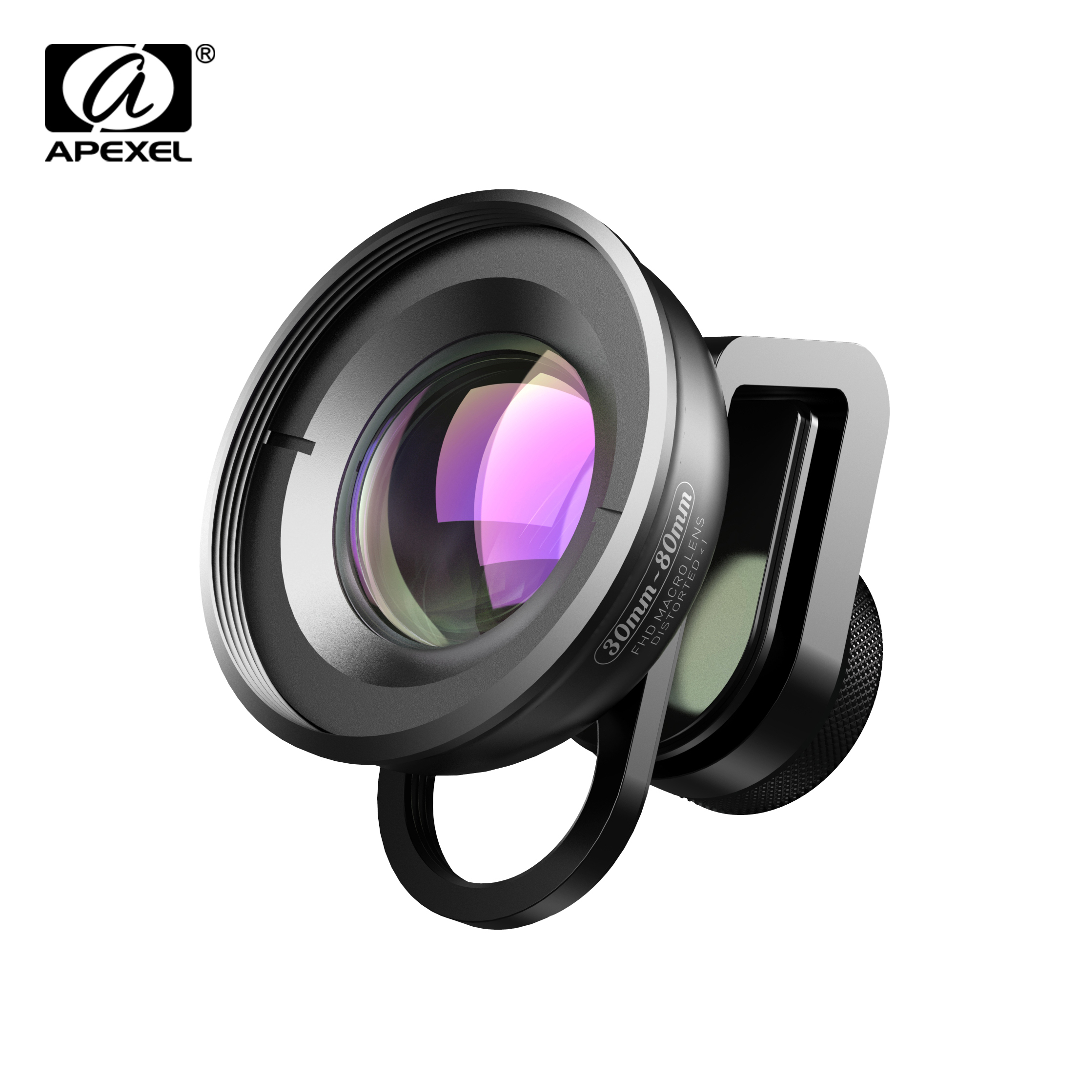 APEXEL HD Optic 30mm-80mm Macro Lens Phone Camera Lens 10x Super Macro Lentes for iPhonex xs max Samsung Xiaomi huawei Cellphone