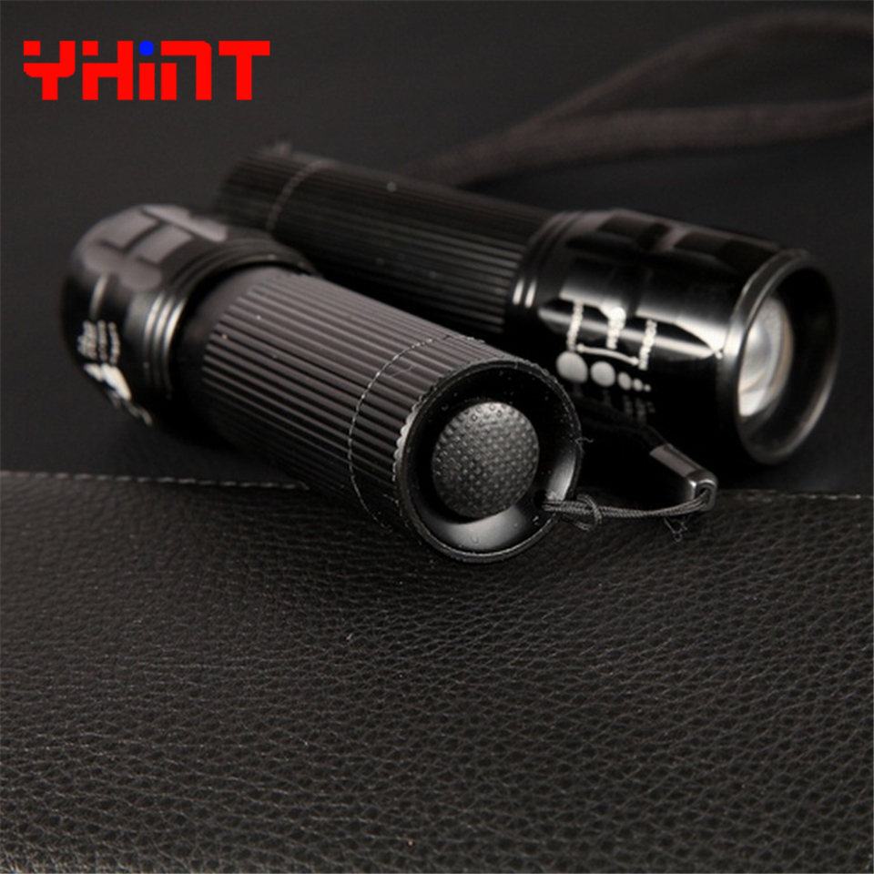 High quality Aluminum Waterproof Telescopic Zoomable 3 modes LED flashlight 3*AAA Battery supply Torch Tactical Multi Flashlight