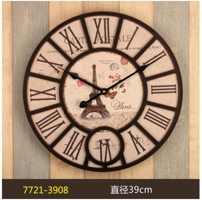 Rustic Kitchen Clock Spices 021394 16 Inch Wooden Wall Large Shabby Chic Times Quatz Home Antique Style