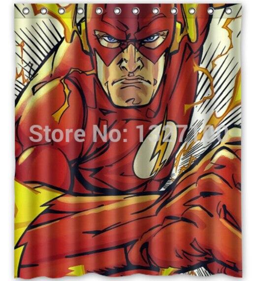 214 Hot Sale Custom The Flash 002 Fashion Home Fabric Waterproof Bathroom Decor Shower Curtain 150x180cm