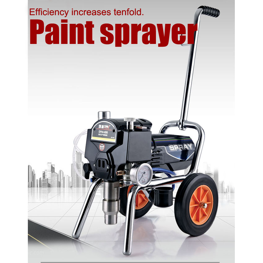 1PC Professional airless electric piston paint sprayer with spray gun heavy-load painting equipment with extend pole professional airless paint sprayer parts 75cm extend pole suit for electric airess paint sprayer