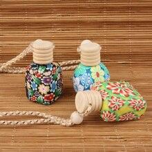 Botella de Perfume de arcilla suave con Aroma, contenedor para cosmético mujeres, colgante de coche, 10ml 15ml, lote de 35 unidades
