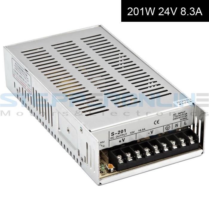 DC24V 201W 8.3A Switching Power Supply 115V/230V to Stepper Motor 3D Printer/CNC dc60v 350w 5 9a switching power supply 115v 230v to stepper motor diy cnc router