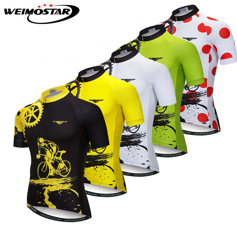 Weimostar Pria Bersepeda Jersey Jersey Maillot Ciclismo MTB Kaus Sepeda Sepeda Gigi Jersey Kemeja Cepat Kering