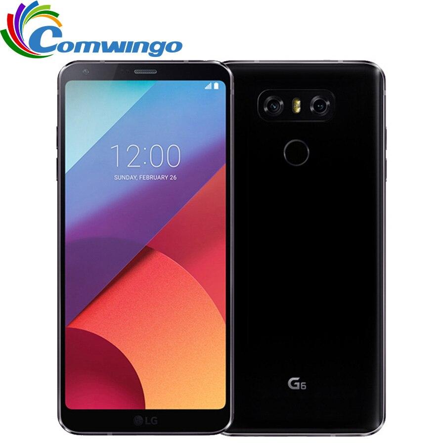 Téléphone portable Original débloqué LG G6 4G RAM 32G ROM Quad-core 13MP 5.7 ''Snapdragon 821 4G LTE téléphone portable Android LGG6