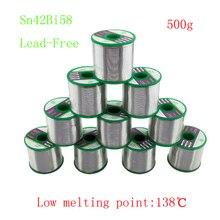 500G/Roll 138 Graden Lage Smeltpunt Sn42Bi58 Loodvrij Tin Draad Soldeer Voor Lassen Thermische Zekering temperatuurregeling Element