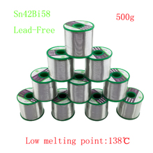500g/roll 138degree Low melting point Sn42Bi58 Lead Free Tin Wire Solder for welding Thermal fuse Temperature control element