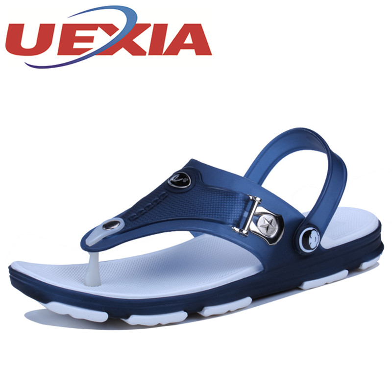 Big Size 40-45 Mens Summer Beach Sandal Shoes Breathable Flat Flip Flops Slipper Shoe Outdoor Breathable Casual Sandalias Hombre